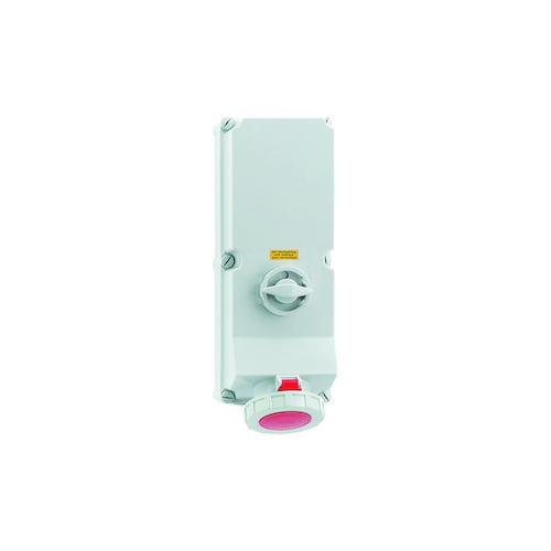 Bals CEE Afschakelbare wandcontactdoos vergrendelbaar 125A 4P 6h IP67 400V